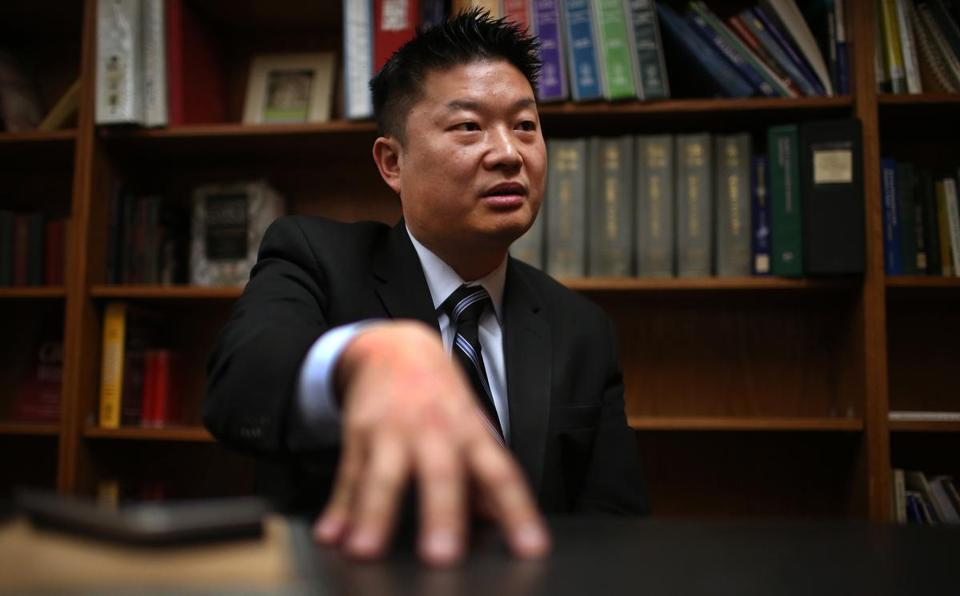 HOLD FOR BOSTON LATIN SCHOOL PROJECT Boston, MA--2/22/2016--BPS Superintendent Tommy Chang (cq) talks about the investigation at Boston Latin School. Scenes at Boston Latin School, which is in the news because of a racial controversy, are photographed, on Monday, February 22, 2016. Photo by Pat Greenhouse/Globe Staff Topic: 06bls Reporter: Meghan Irons