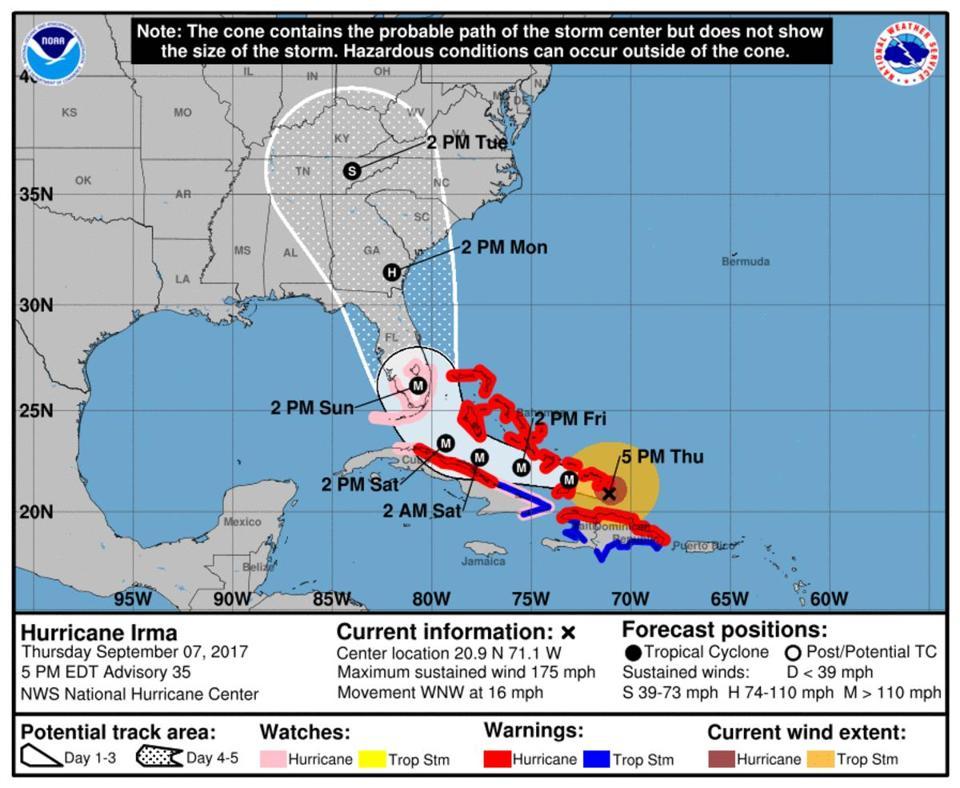 Here S The Latest On Hurricane Irma The Boston Globe