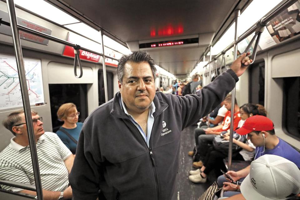 Luis Ramirez, the incoming general manager of the MBTA, took a ride on the Red Line Thursday.