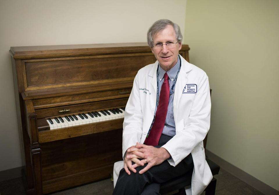 Dr. Michael Charness was a piano player before becoming the director of the Performing Arts Clinic at Brigham and Women's Hospital in Boston. He keeps a piano in his office space.