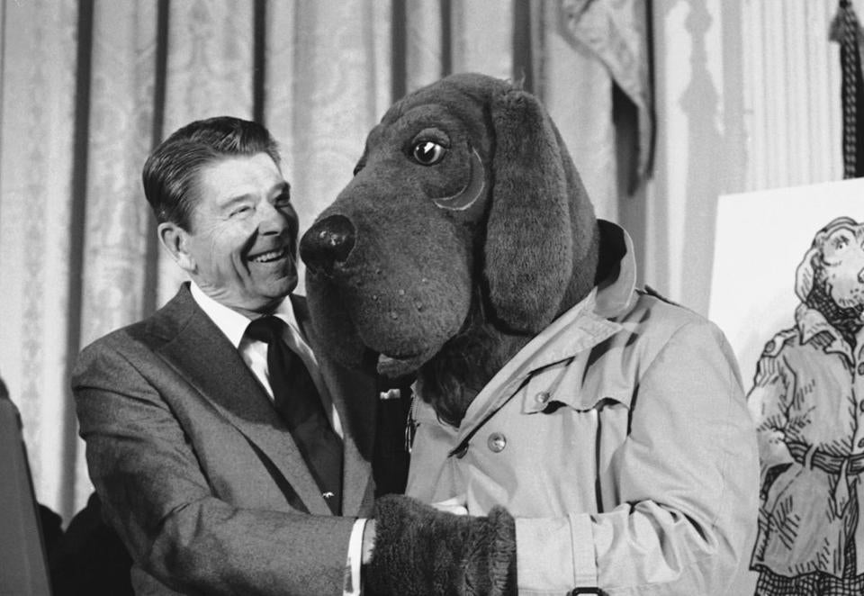 McGruff the Crime Dog met President Ronald Reagan at the White House in 1984.