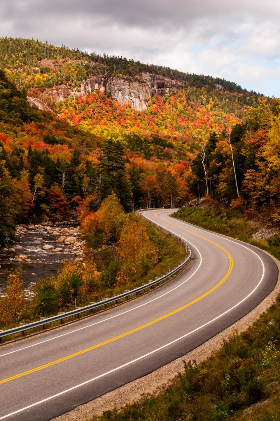 A section of New Hampshire's Kancamagus Highway.
