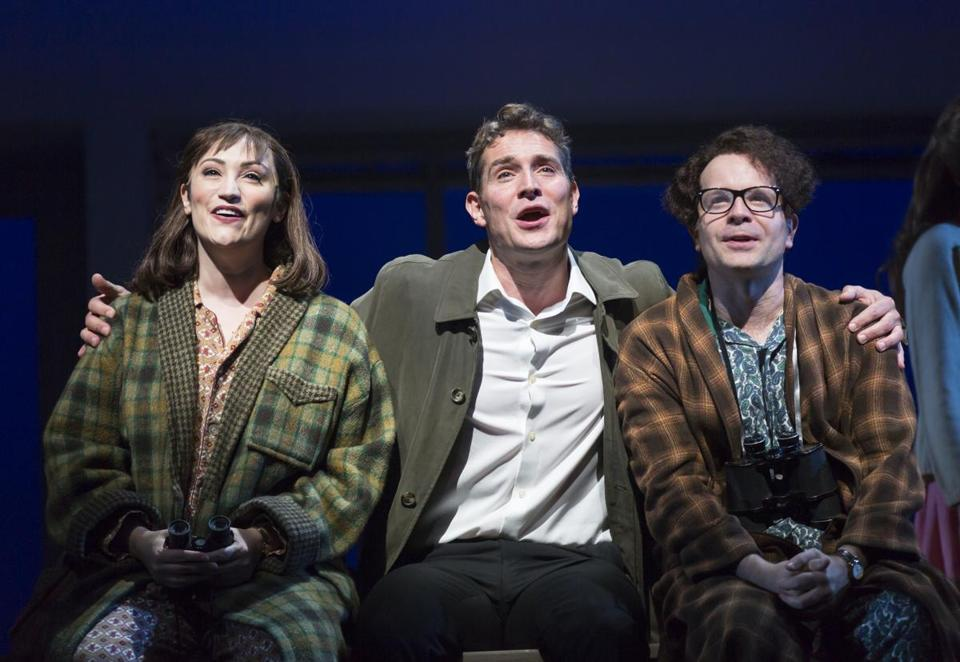 "Eden Espinosa, Mark Umbers, and Damian Humbley in ""Merrily We Roll Along."""
