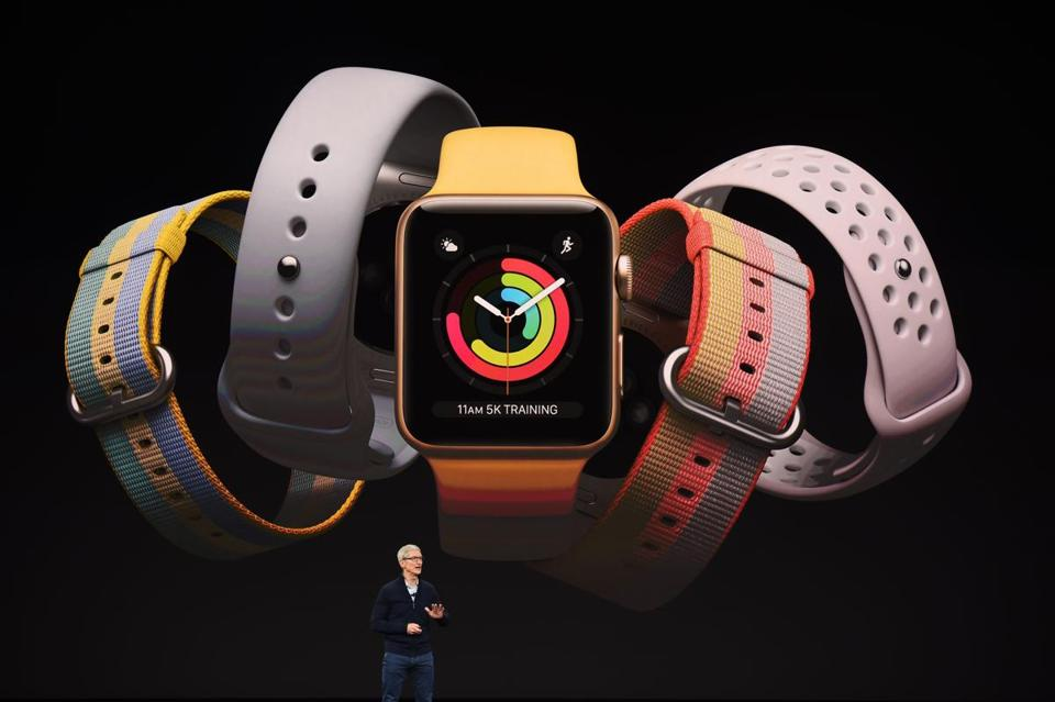 Apple CEO Tim Cook spoke about the Apple Watch on Tuesday.