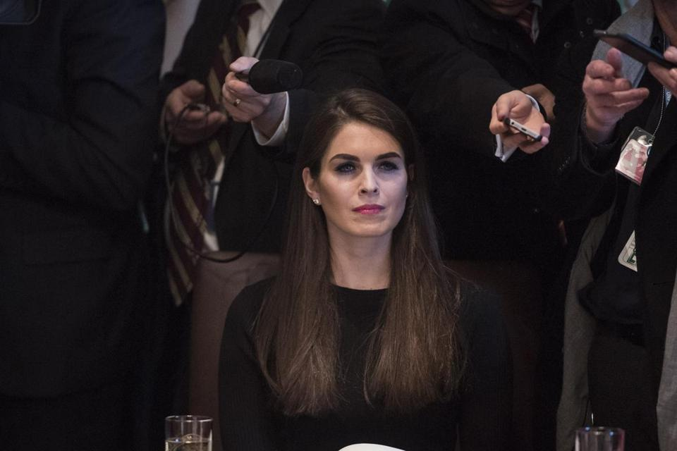 Hope Hicks, a key adviser to President Donald Trump, is among the White House personnel whom special counsel Robert Mueller reportedly looks to interview as part of his investigation on Russian meddling in the 2016 election. MUST CREDIT: Washington Post photo by Jabin Botsford