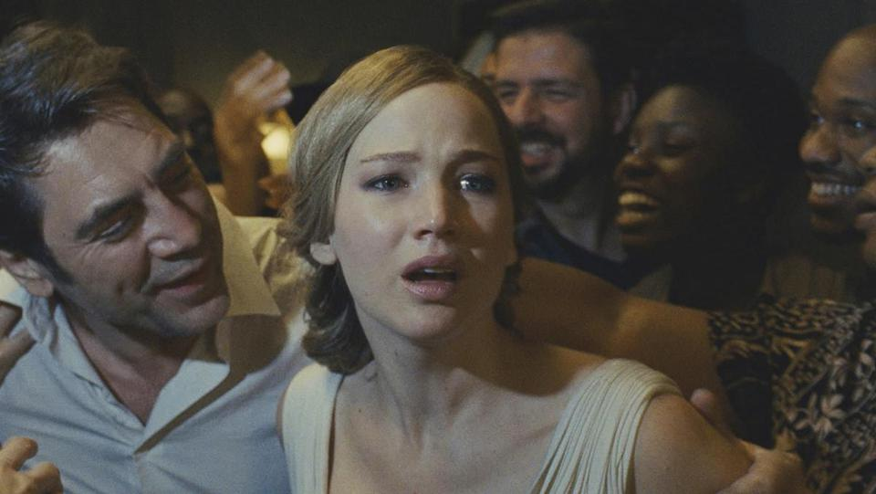 "Jennifer Lawrence stars with Javier Bardem  in ""mother!"""