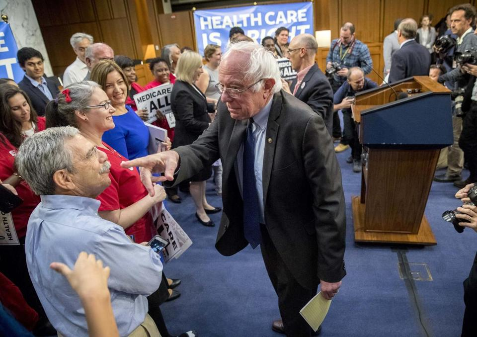 Senator Bernie Sanders unveiled the broad strokes of his plan Wednesday, along with 15 Democratic cosponsors.
