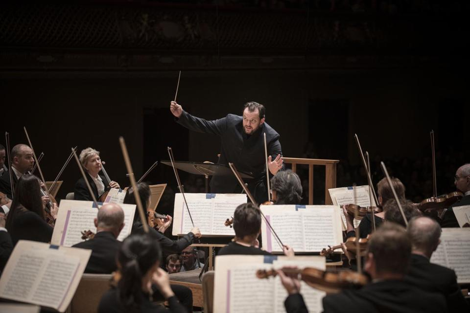 Boston Symphony Orchestra music director Andris Nelsons leading the BSO. Photo: Marco Borggreve