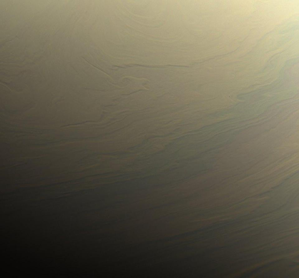 epa06206245 A handout photo made available by NASA on 15 September 2017 shows a image taken by NASA's Cassini spacecraft gazed toward the northern hemisphere of Saturn to spy subtle, multi-hued bands in the clouds there, taken on 31 August 2017. The spacecraft will end its expedition on 15 September 2017, following a series of 22 dives through the 2,400km gap between Saturn and its rings, with a final plunge into the gas giant. Cassini will use its thrusters to keep its antenna pointed at Earth for as long as possible while sending back unique data about Saturn's atmosphere. The operation aims at gaining insights into the planet's structure and atmosphere as well as at capturing views of its inner rings. NASA's Cassini spacecraft is in orbit around Saturn since 2004. The Cassini mission is a cooperative project of NASA, ESA (the European Space Agency) and the Italian Space Agency. EPA/NASA / HANDOUT HANDOUT EDITORIAL USE ONLY/NO SALES