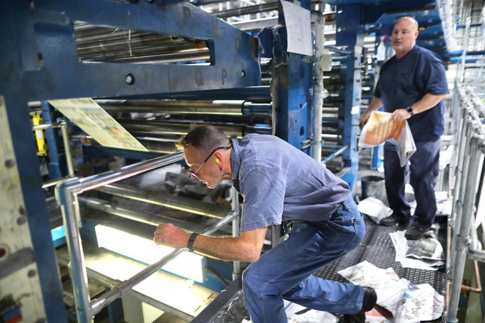 The Boston Globe's new printing plant in Taunton has been plagued by a host of mechanical problems.