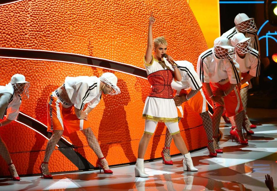 Singer Katy Perry performs at the MTV Video Music Awards.