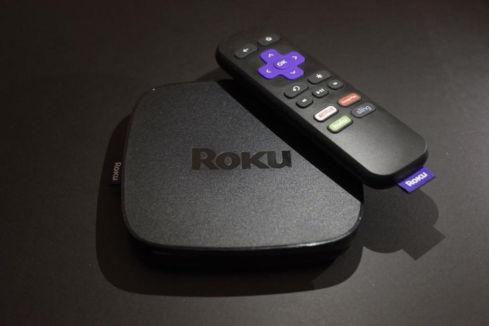The Roku Premiere streaming TV device.