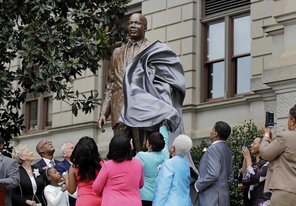 The Martin Luther King Jr. was unveiled on the state Capitol grounds in Atlanta in August.