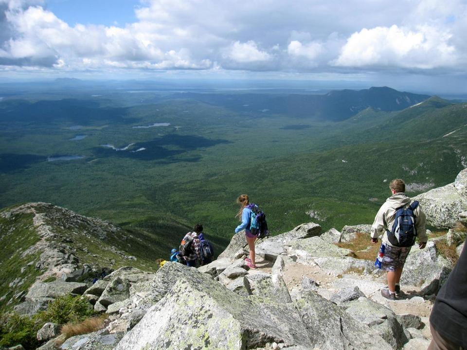 Hikers made their way down Mount Katahdin in Baxter State Park in Maine.