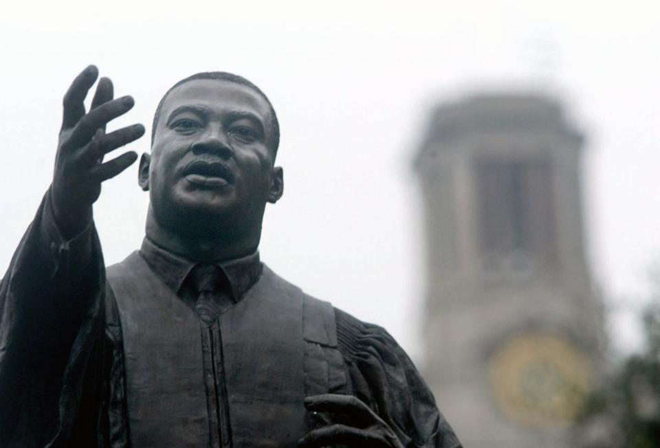 The statue of Martin Luther King Jr. at the University of Texas at Austin was deidcated in 1999.