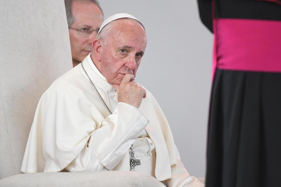 Image result for pope admits