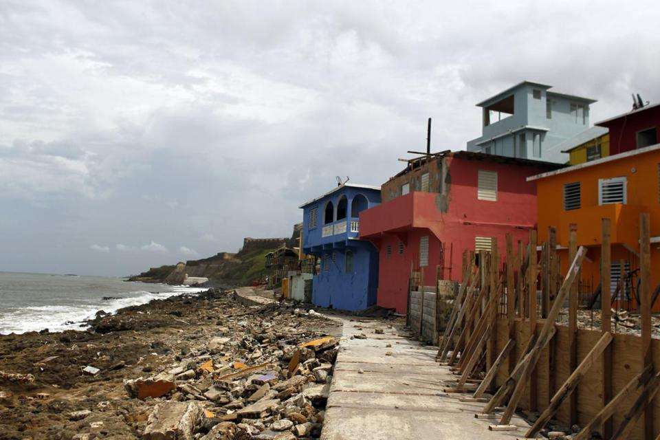 The neighborhood of La Perla looked desolate in the aftermath of Hurricane Maria in San Juan, Puerto Rico, on September 22.