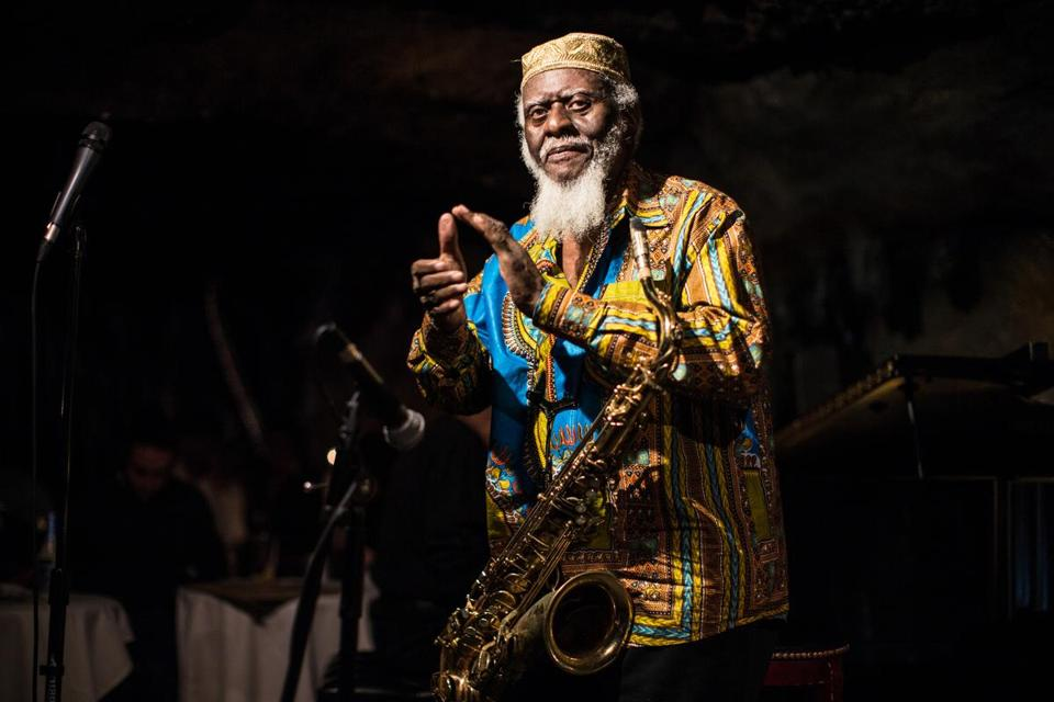 Pharoah Sanders and his quartet will perform in a concert Sunday to honor and remember the legendary saxophonist John Coltrane.