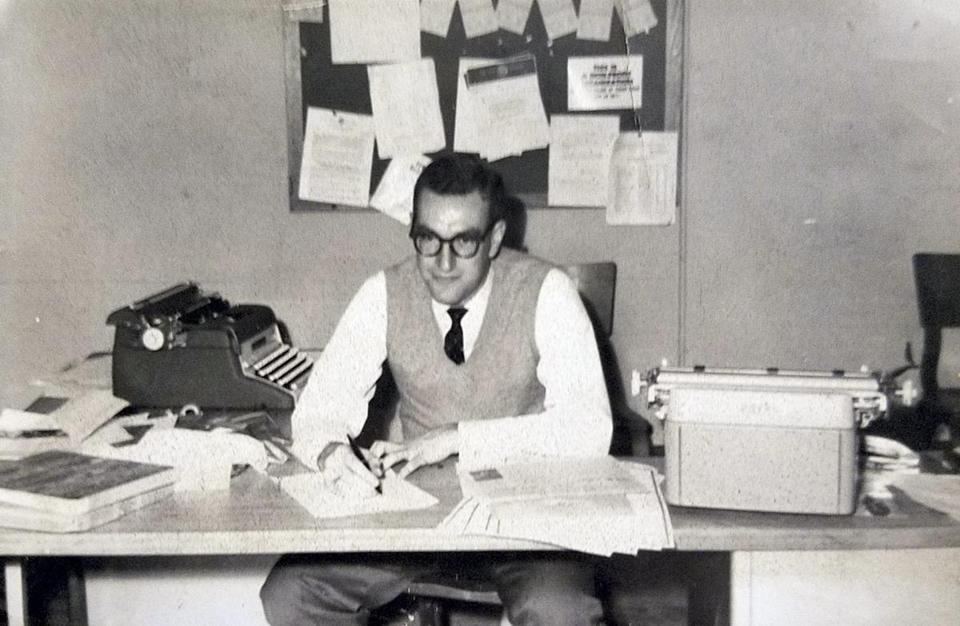 Dr. Bluestein at work in the early 1960s.