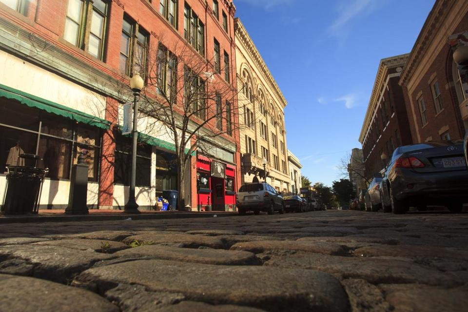 10/10/2014 - New Bedford, MA - This is historic downtown New Bedford, MA. For Address section feature on New Bedford, MA - Topic: 101914LocationPics. Photo by Dina Rudick/Globe Staff.