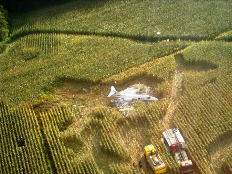 A plane flown by a pilot who stole the identity of another FAA-certified pilot crashed in a field in Denmark in 2012.