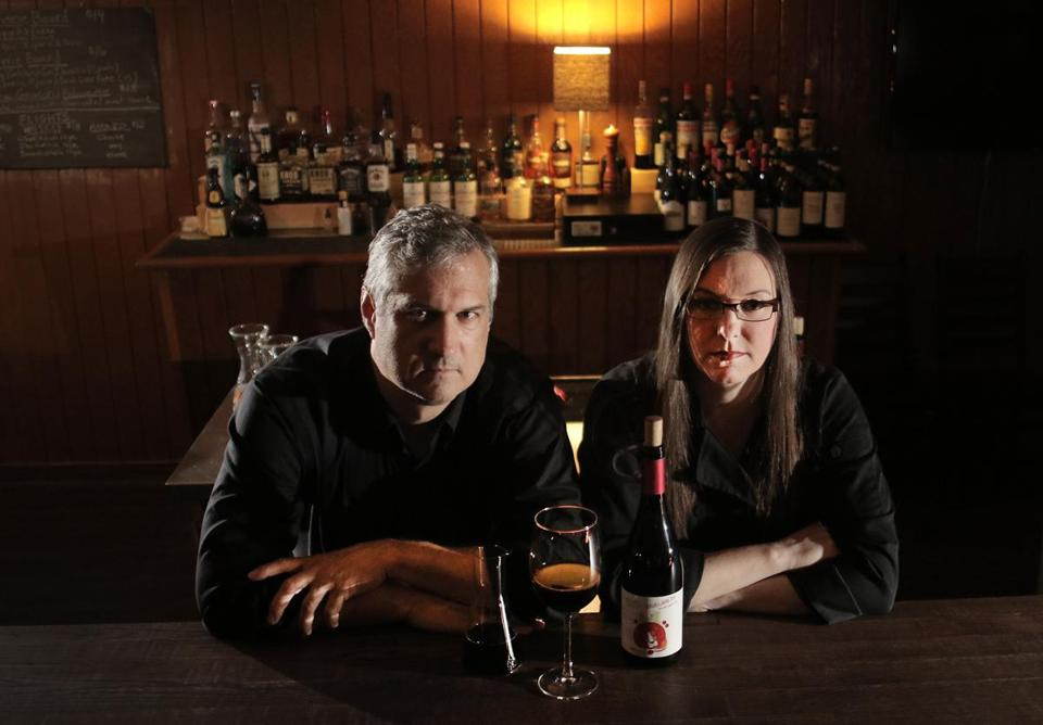 Cambridge, MA - 09/28/17 - Kim Courtney and Xavier Dietrich (cq), owners of UpperWest. For Spotlight story about the messy process of granting liquor licenses in Cambridge. (Lane Turner/Globe Staff) Reporter: (Sacha Pfeiffer) Topic: (31cambridge)