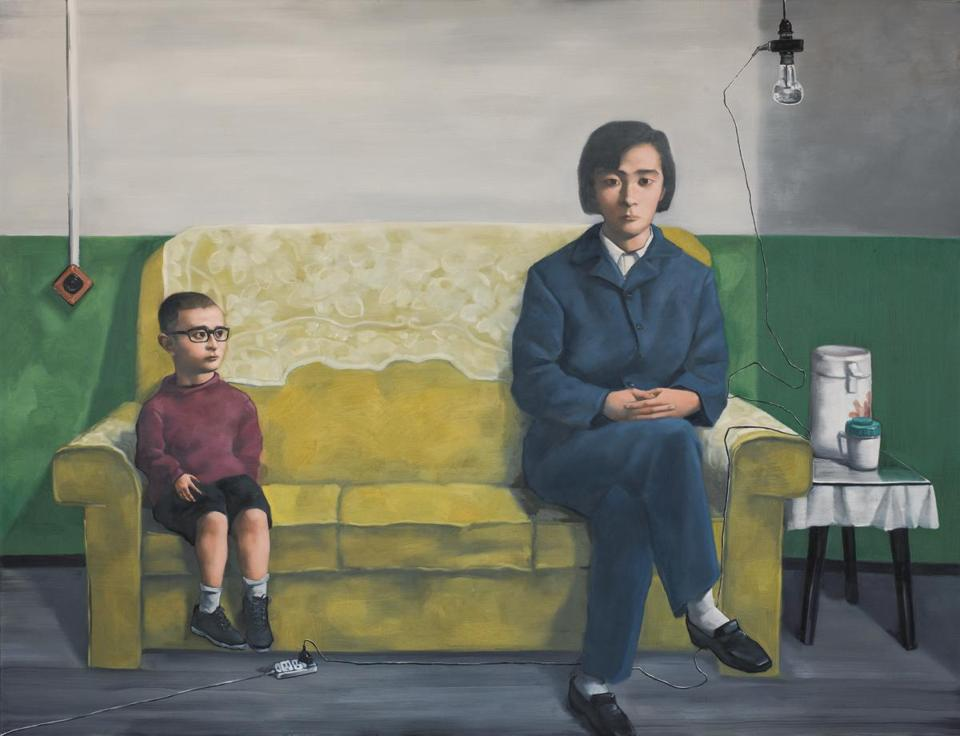 "Zhang Xiaogang's ""My Mother."""