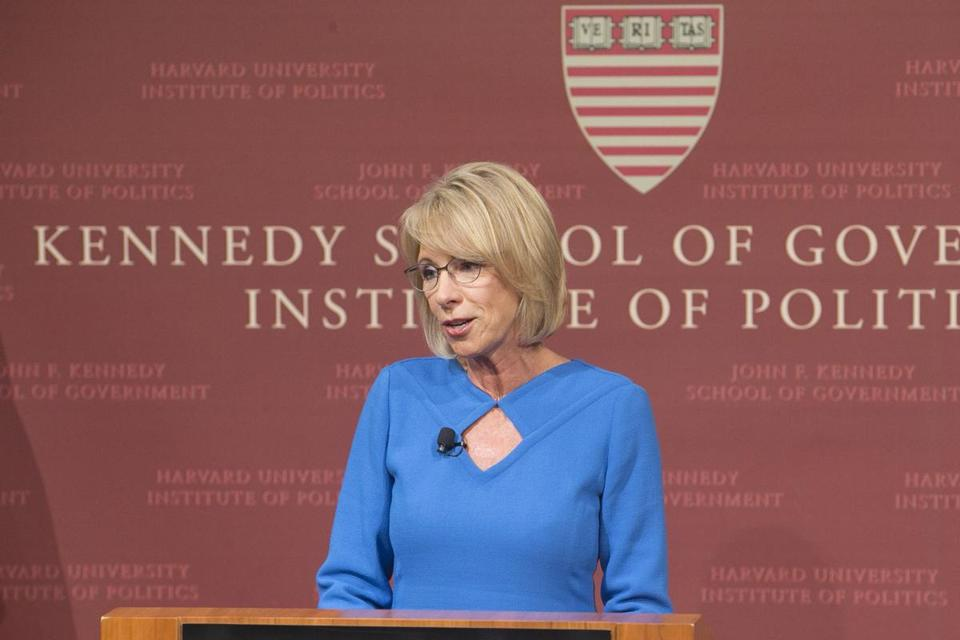 Some Harvard activists say that Education Secretary Betsy DeVos's efforts to overhaul the Title IX process are altering the landscape of sex assault investigations before they're finalized.