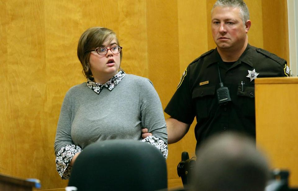 15-year-old Morgan Geyser entered a Waukesha County courtroom Friday.