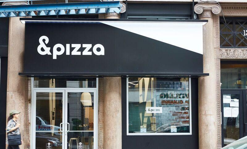 An &pizza storefront in New York City. The mini chain is coming to Harvard Square.
