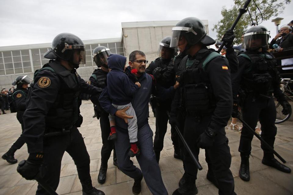 Image result for catalonia referendum violence