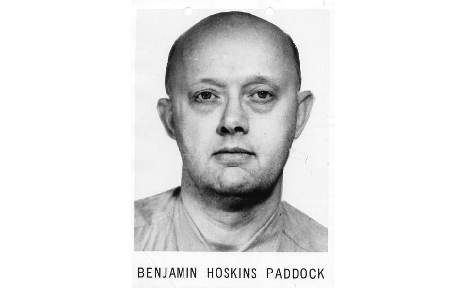 "Benjamin Hoskins Paddock was once described in a wanted poster as ""psychopathic'' with suicidal tendencies."