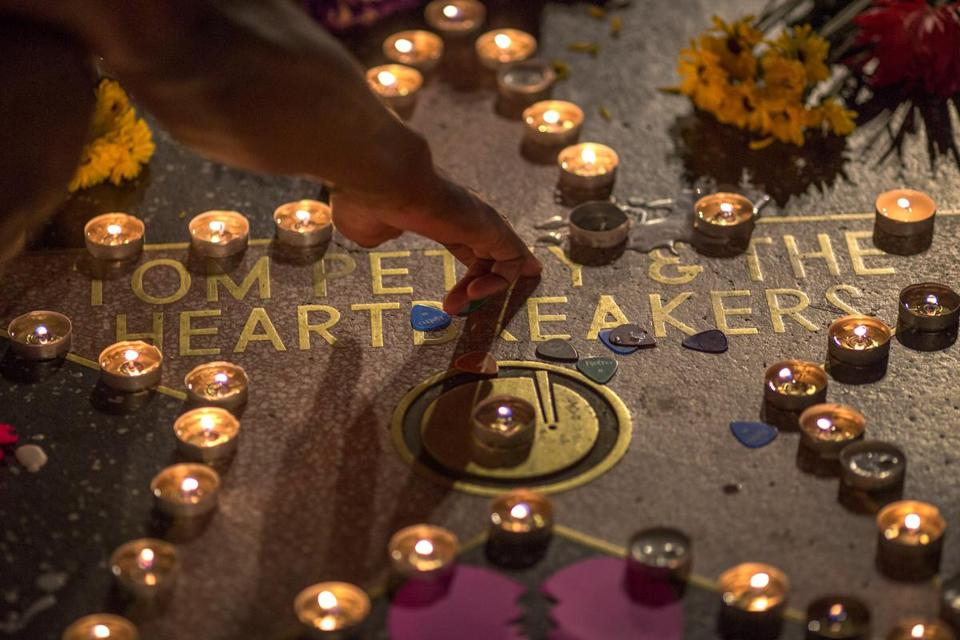 A man touched the Tom Petty & the Heartbreakers star on the Hollywood Walk of Fame Monday.