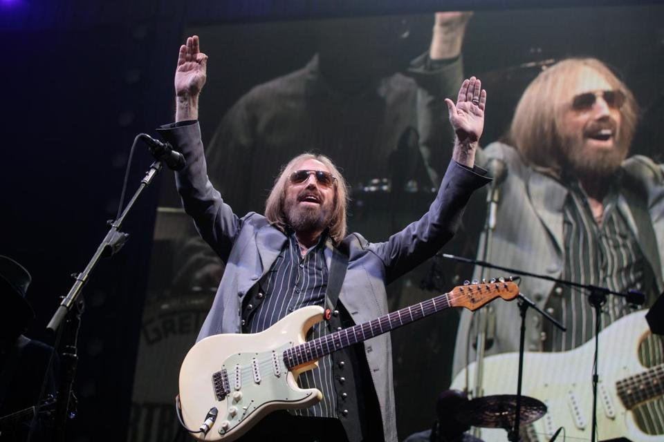 Tom Petty acknowledged the crowd at the Tom Petty & The Heartbreakers 40th Anniversary Tour show at TD Garden in July.