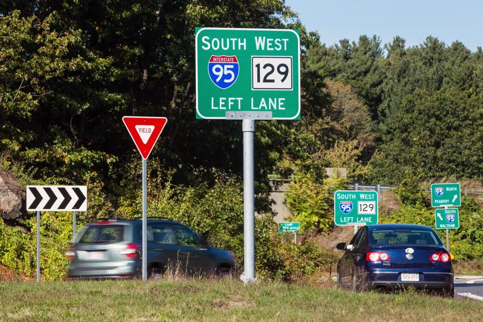 Signs such as these at Exit 40 off of Interstate 95 in Reading are part of the plan.