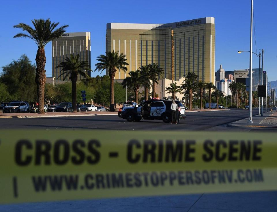 Crime scene tape surrounded the Mandalay Bay resort last week after the massacre in Las Vegas.