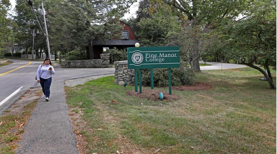 The town of Brookline wants to take land from Pine Manor College for an elementary school.