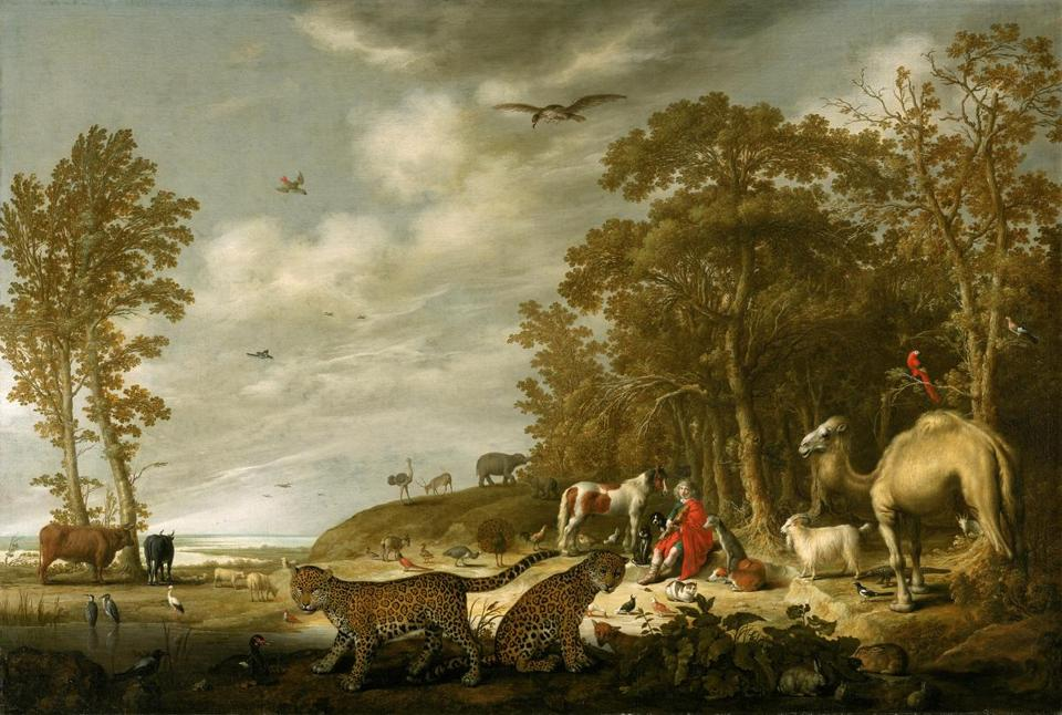"""Orpheus Charming the Animals"" by Aelbert Cuyp, from the Rose-Marie and Eijk van Otterloo Collection."