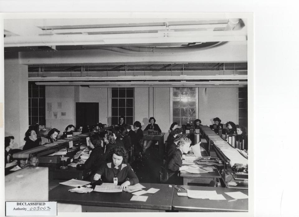 A team of women code breakers working for the US Navy during World War II.