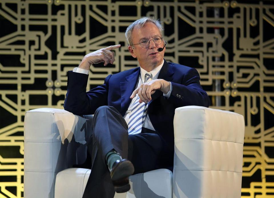 Alphabet Inc. executive chairman Eric Schmidt spoke at the Inclusive Innovation Challenge Celebration, part of HUBweek.