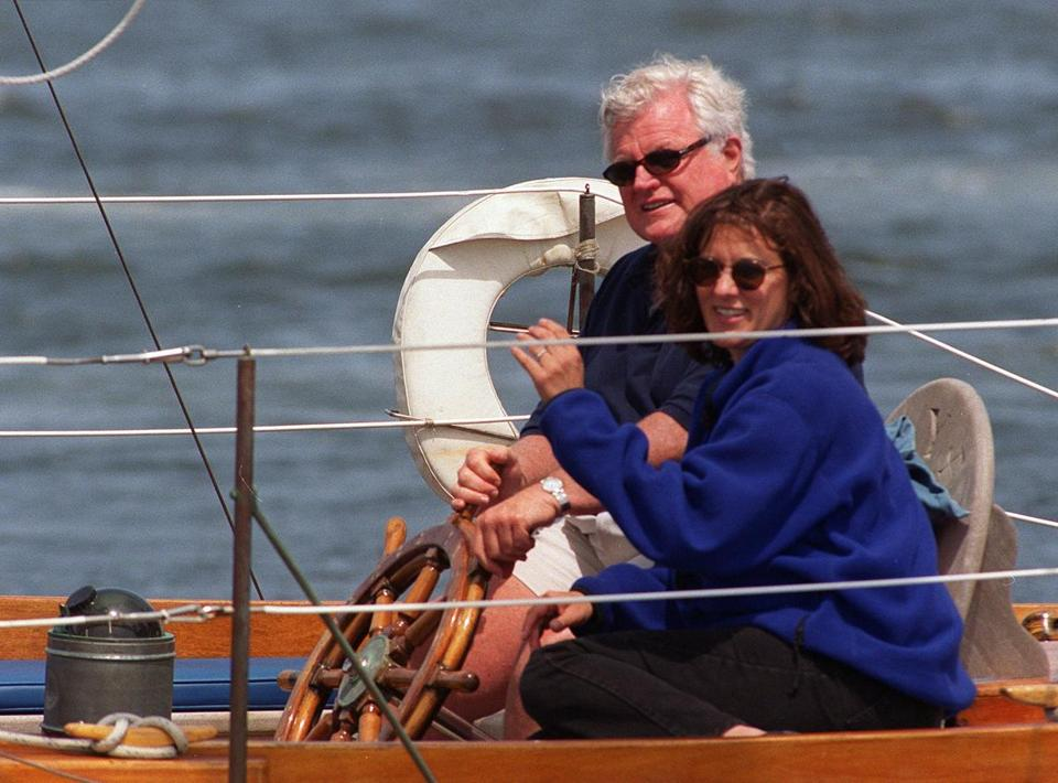 Ted Kennedy taught Vicki how to sail, patiently following her on the water in a rubber dinghy, calling out instructions.