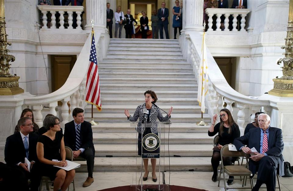Governor of Rhode Island Gina M. Raimondo at the Rhode Island State House.