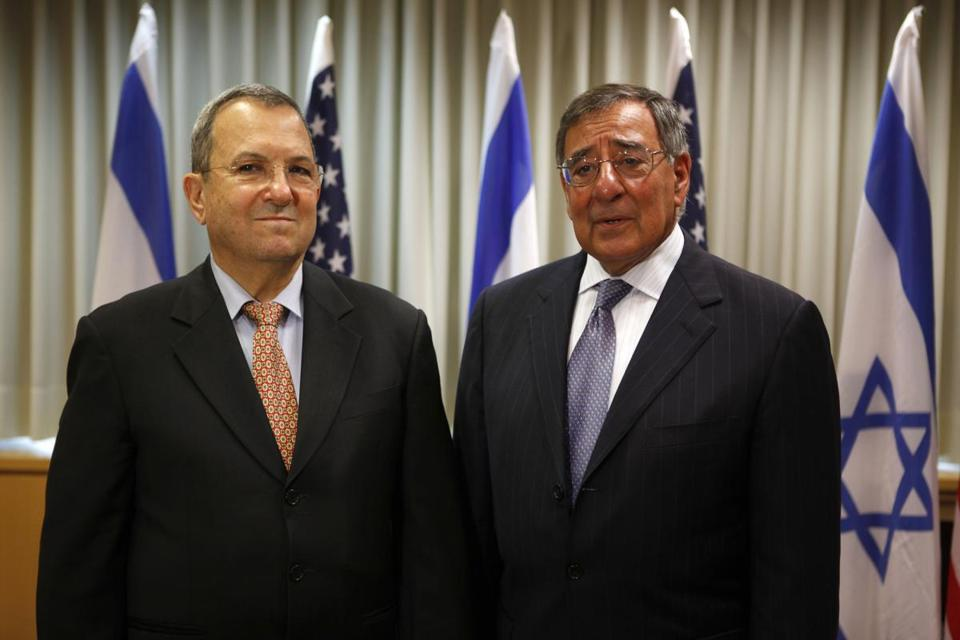 """It would be a mistake for President Trump to decertify the Iran nuclear deal,"" said Ehud Barak, the former Israeli prime minister and defense minister. Above: Barak with then-Pentagon chief Leon Panetta in 2012."