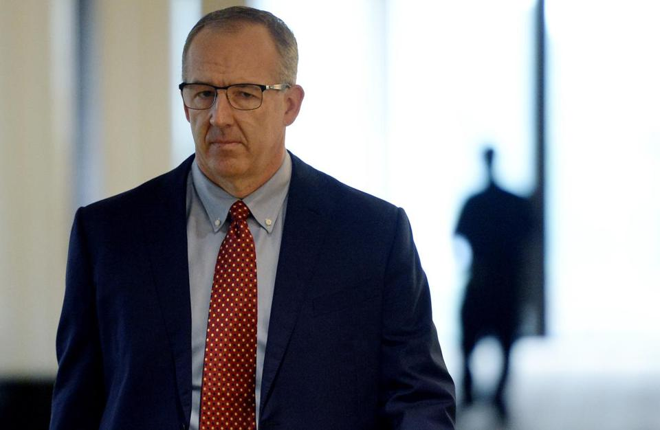 "FILE - In this Aug. 16, 2017, file photo, Southeastern Conference Commissioner Greg Sankey, head of the NCAA infraction panel handling North Carolina's ongoing academic case, arrives at an NCAA hearing in Nashville, Tenn. Sankey says it's ""more likely than not"" that UNC athletes received fraudulent credit, but the organization's bylaws leave it to the schools themselves to determine academic fraud. He added that the panel could not use ""those strong possibilities"" to determine whether violations occurred."" (AP Photo/Mark Zaleski, File)"