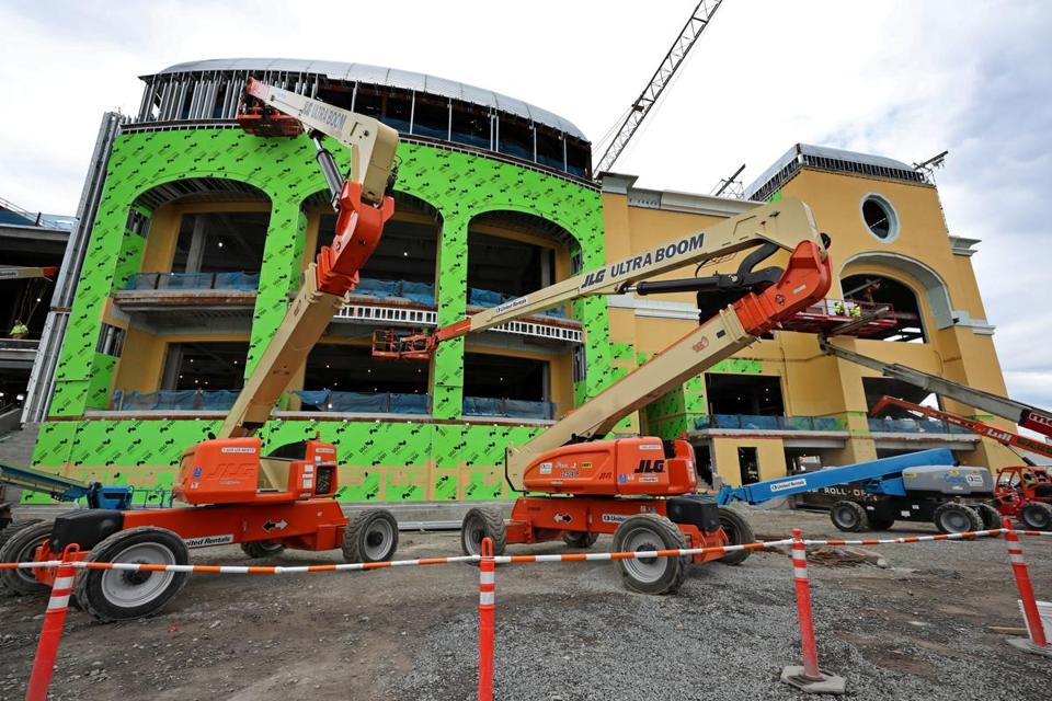 Wynn Boston Harbor casino rising beside Mystic River - The Boston Globe