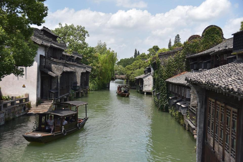 The scenic, ancient city of Wuzhen, which has been restored.