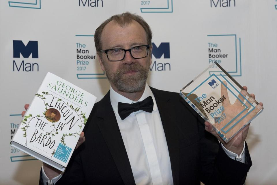 "US author George Saunders won the 2017 Man Booker Prize for Fiction for his novel, ""Lincoln in the Bardo."""