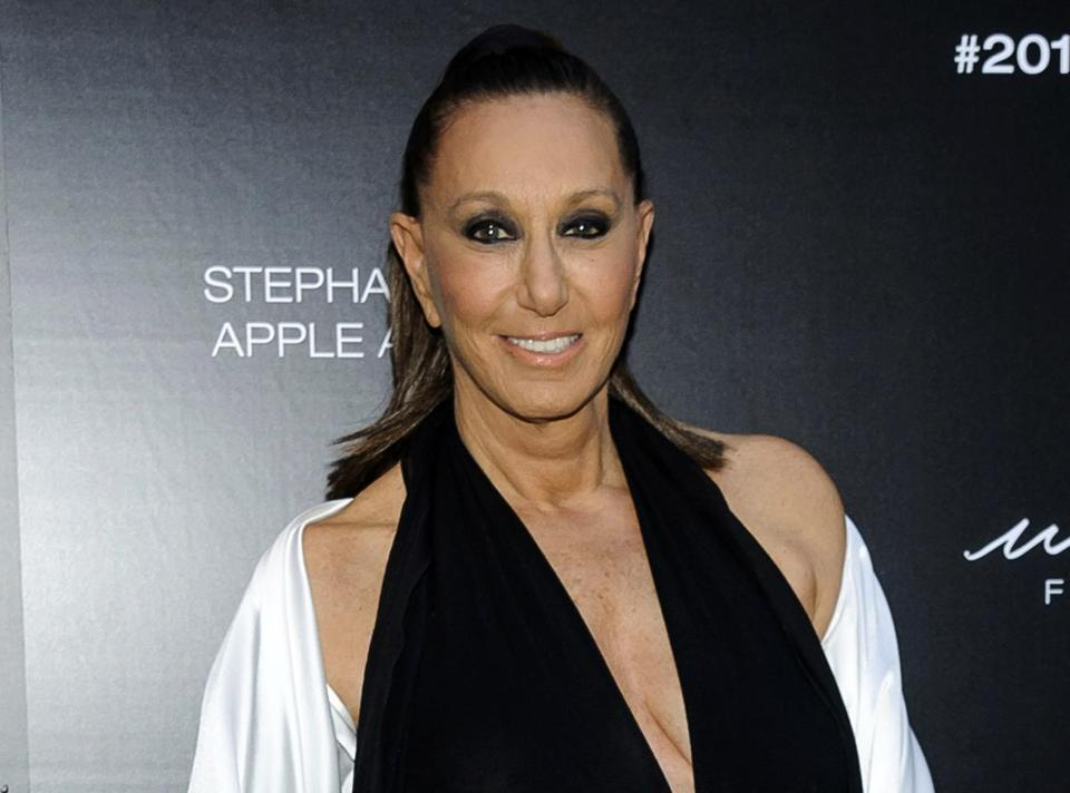 "FILE - In this June 7, 2017 file photo, Donna Karan attends the 2017 Urban Zen Stephan Weiss Apple Awards in New York. Karan says she is apologetic and embarrassed about the remarks she made last week that suggested sexual harassment victims were ""asking for it"" by the way they dressed. Her comments on a red carpet touched off outrage online in wake of allegations against fallen mogul Harvey Weinstein. (Photo by Christopher Smith/Invision/AP, File)"