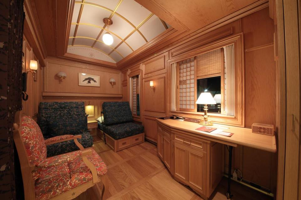 A deluxe suite aboard the Seven Stars at Kyushu.