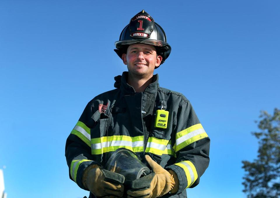 Brockton firefighter Matt Parziale.